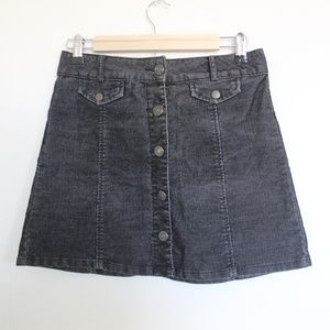 BDG Corduroy Button Up Skirt